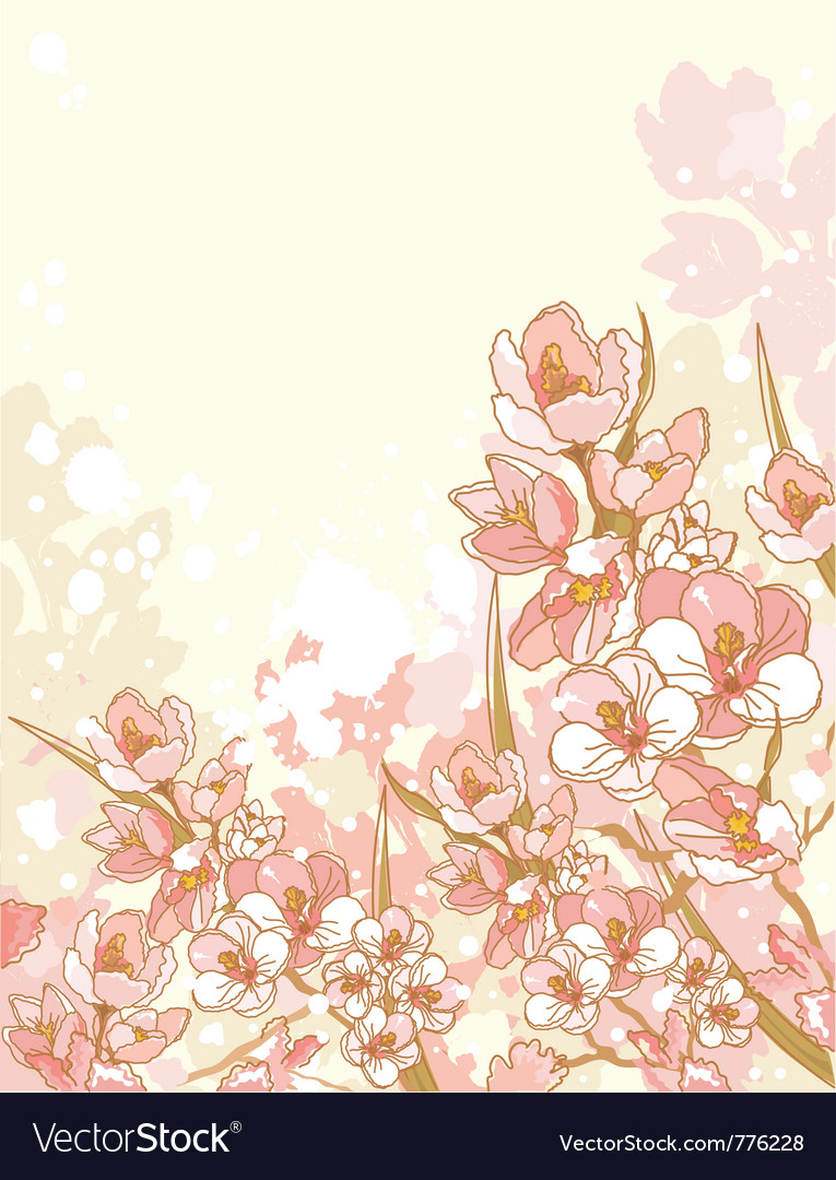 Spring flowers design vector | Price: 1 Credit (USD $1)