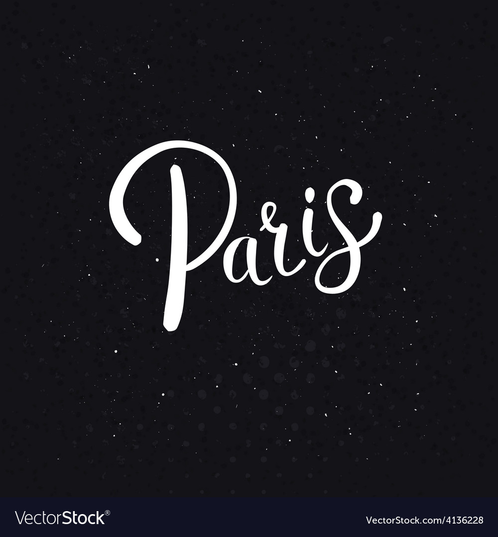 White paris text on an abstract black background vector | Price: 1 Credit (USD $1)