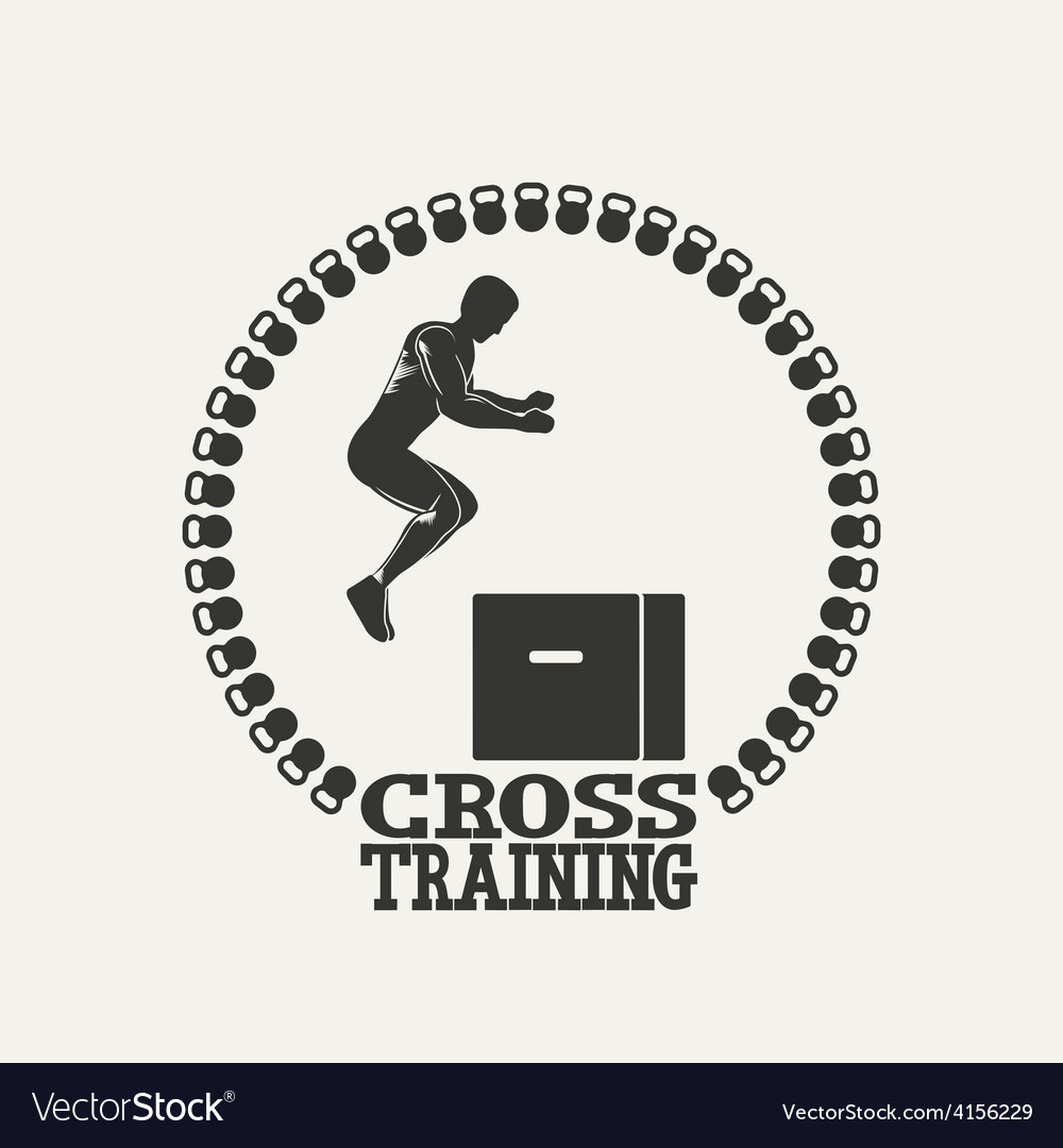 Cross training man silhouet 3 logo vector | Price: 1 Credit (USD $1)