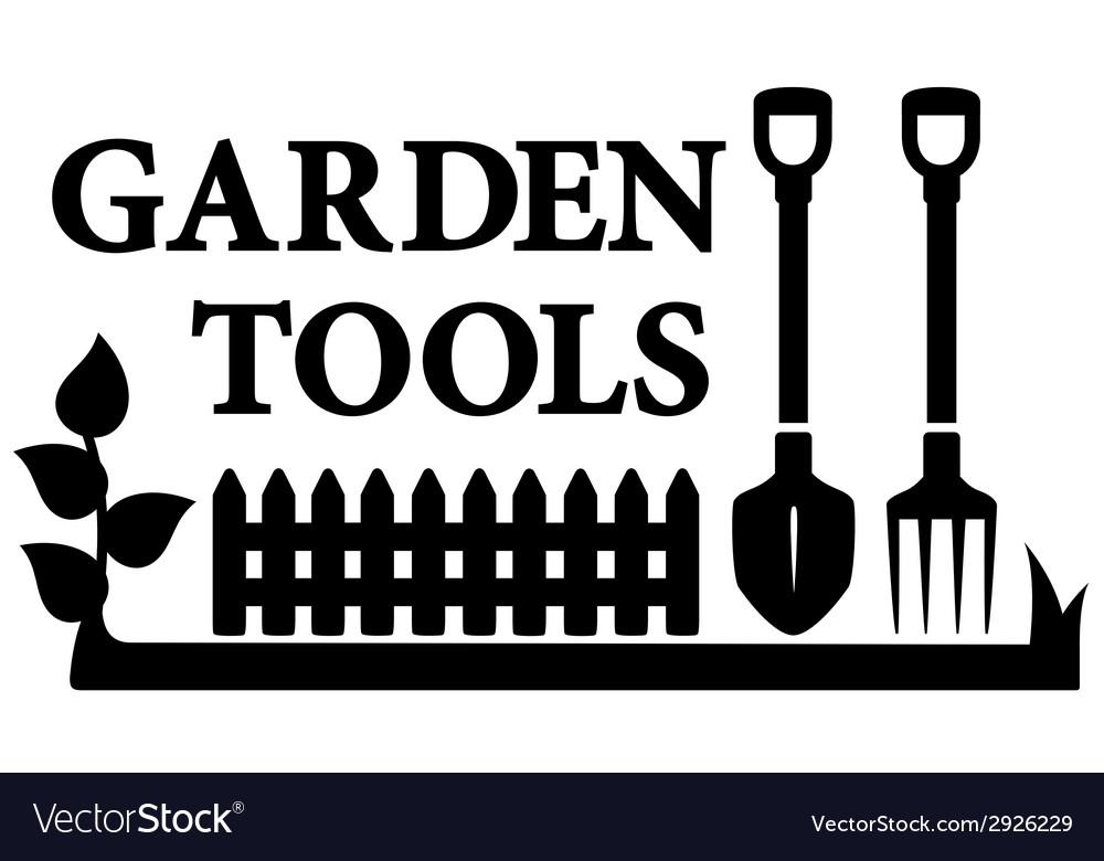 Gardening tools symbol vector | Price: 1 Credit (USD $1)