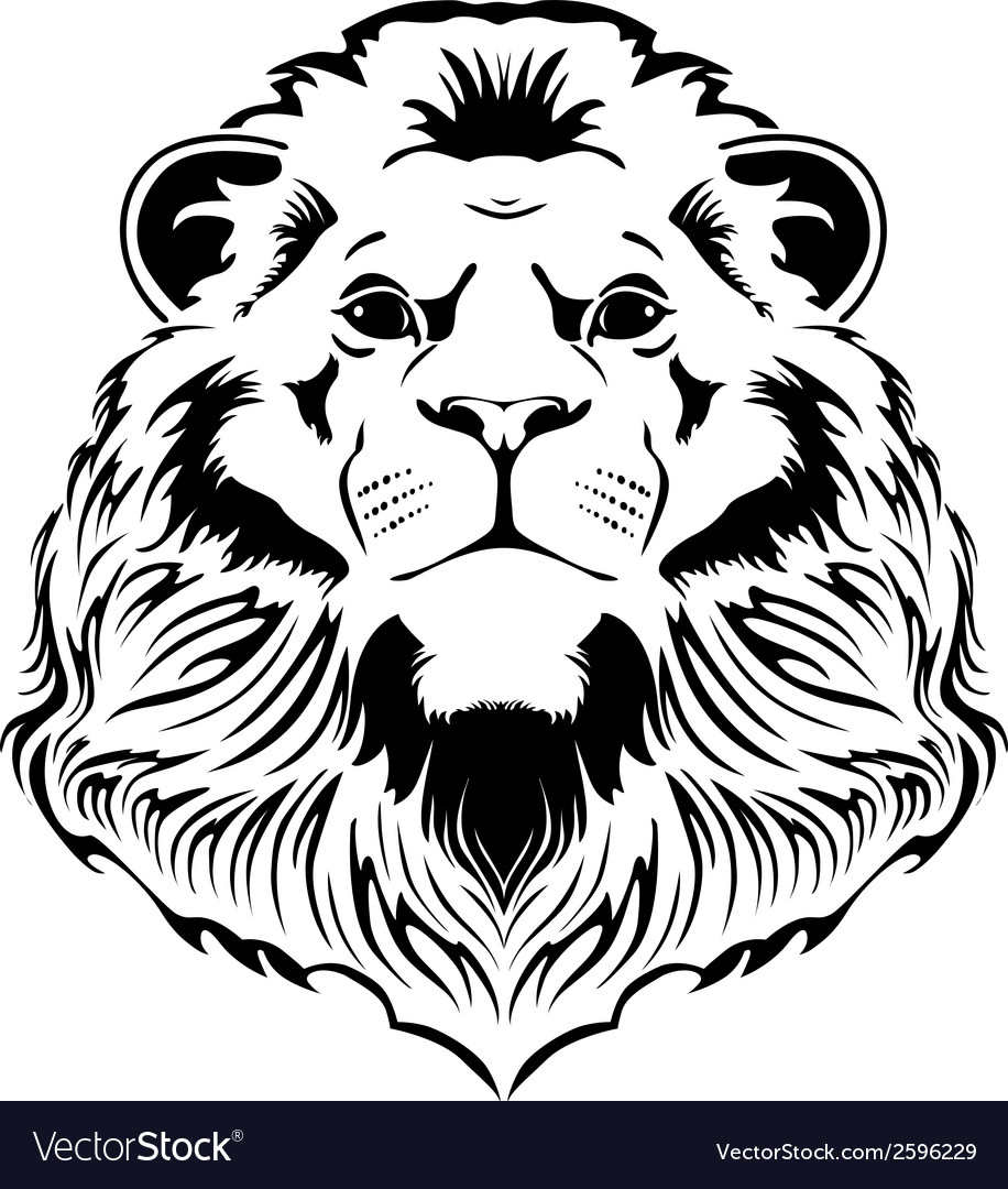 Lion head vector | Price: 1 Credit (USD $1)