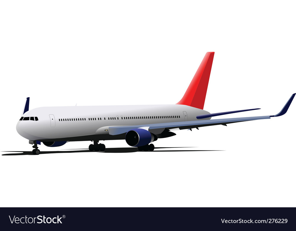 Passenger jet plane vector | Price: 1 Credit (USD $1)