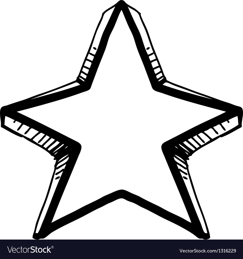 Star symbol in doodle style vector | Price: 1 Credit (USD $1)