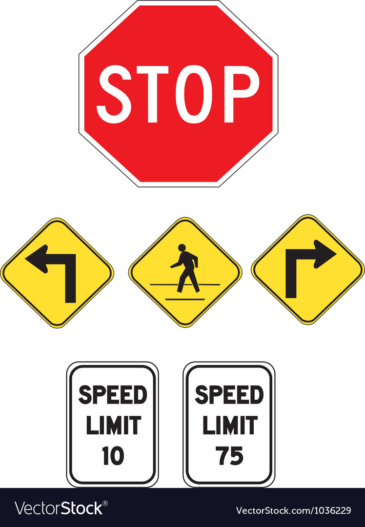 Streetsigns vector | Price: 1 Credit (USD $1)