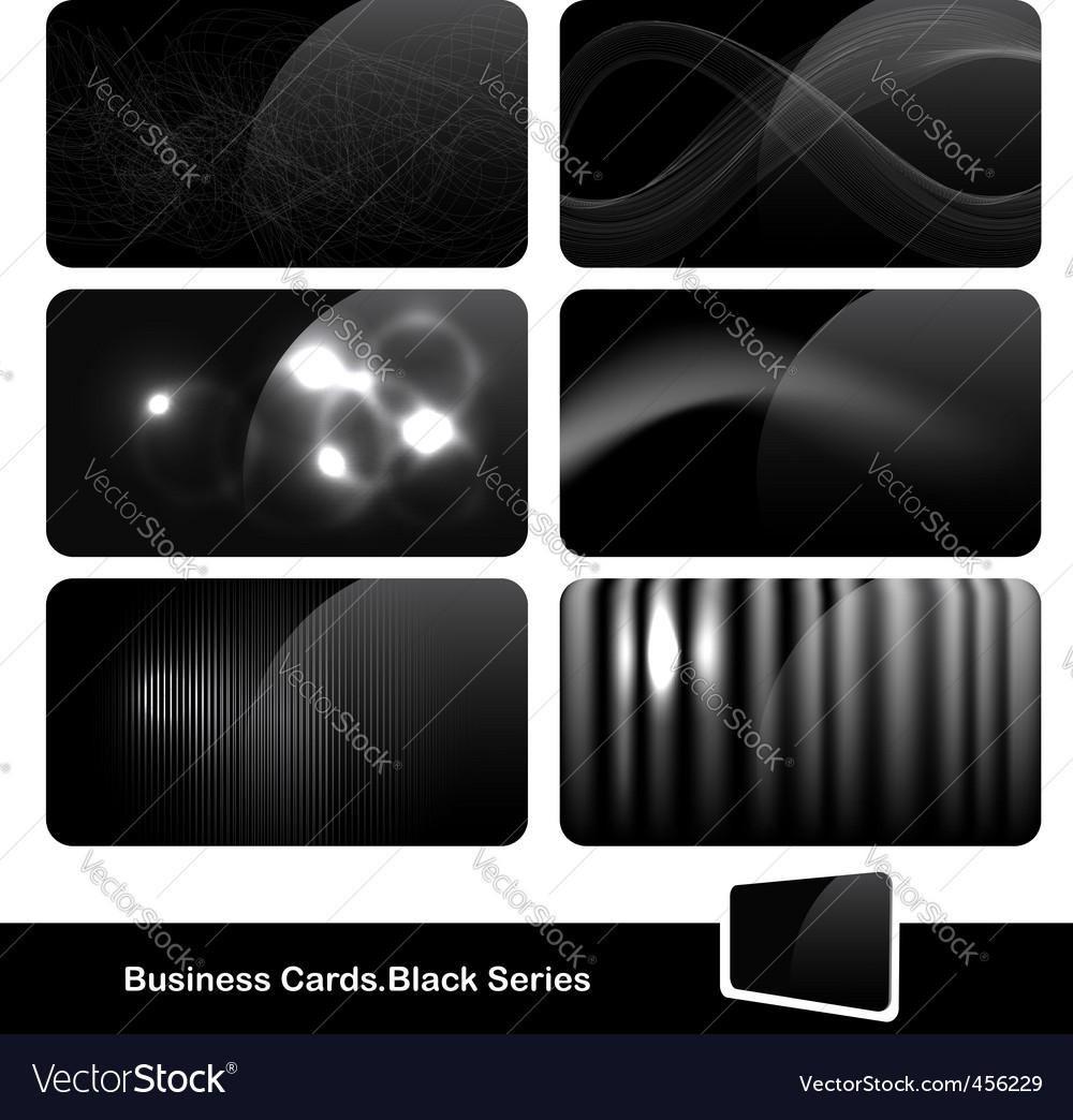 Stylish black business cards vector | Price: 1 Credit (USD $1)