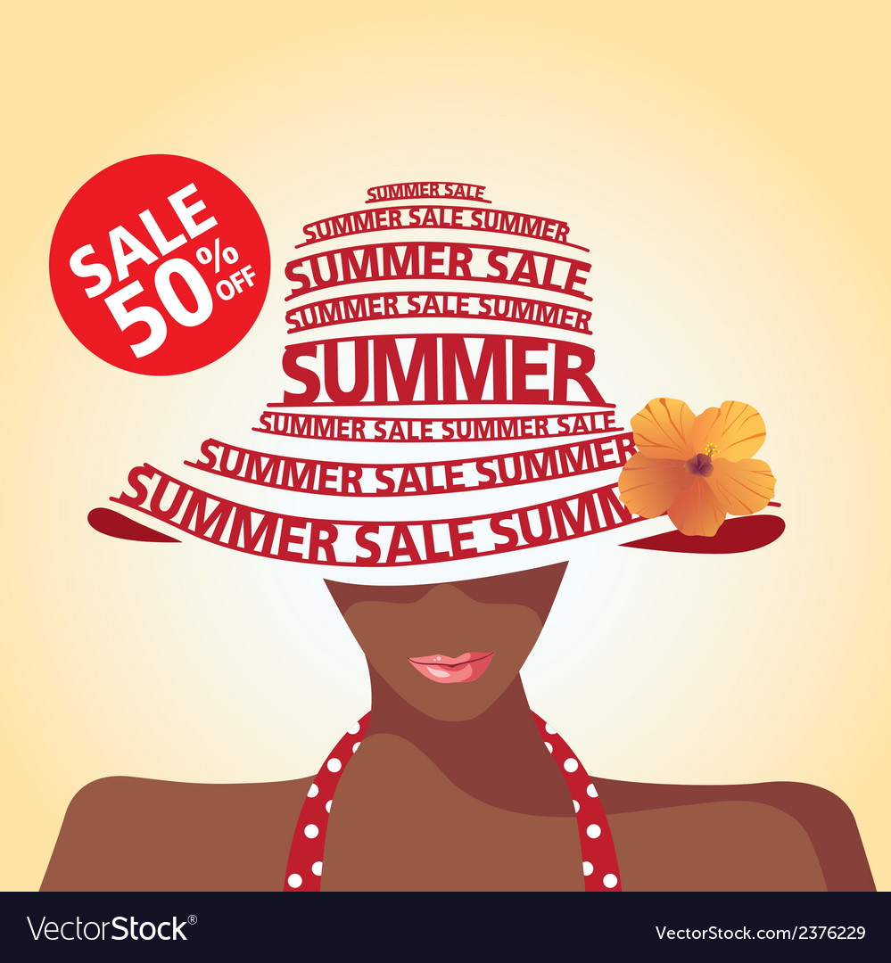 Summer sale and flower vector | Price: 1 Credit (USD $1)