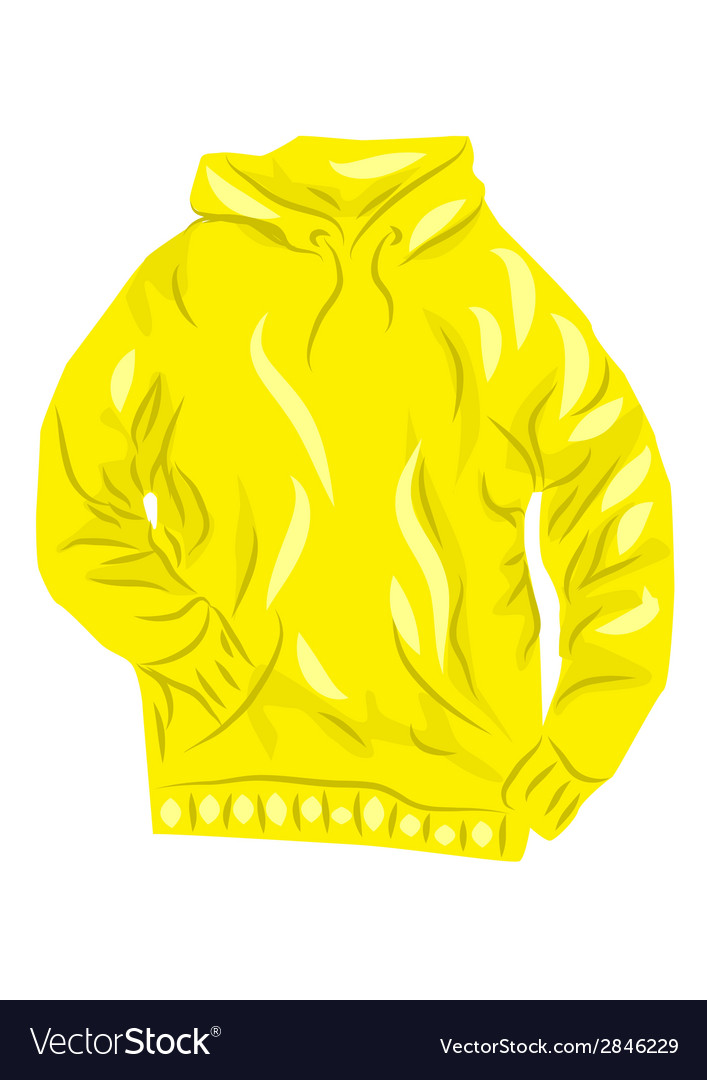 Yellow hoody vector | Price: 1 Credit (USD $1)