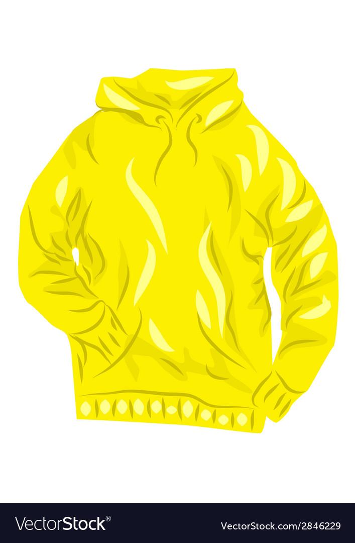 Yellow hoody vector | Price: 1 Credit (USD $1)