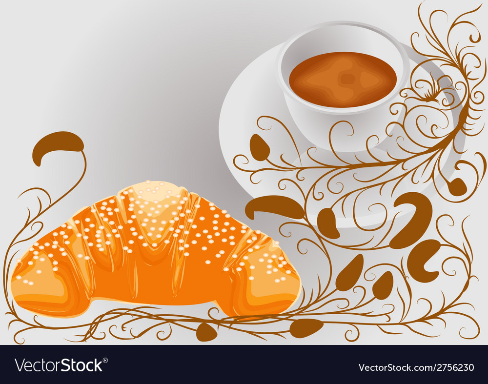 Abstract coffee and croissants vector | Price: 1 Credit (USD $1)