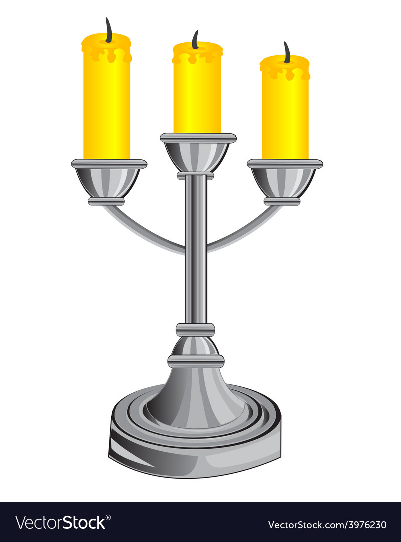 Candlestick on three candles vector | Price: 1 Credit (USD $1)