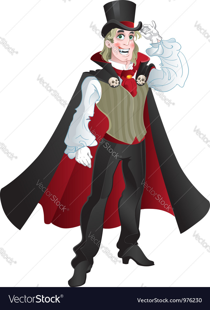 Charming vampire vector | Price: 3 Credit (USD $3)