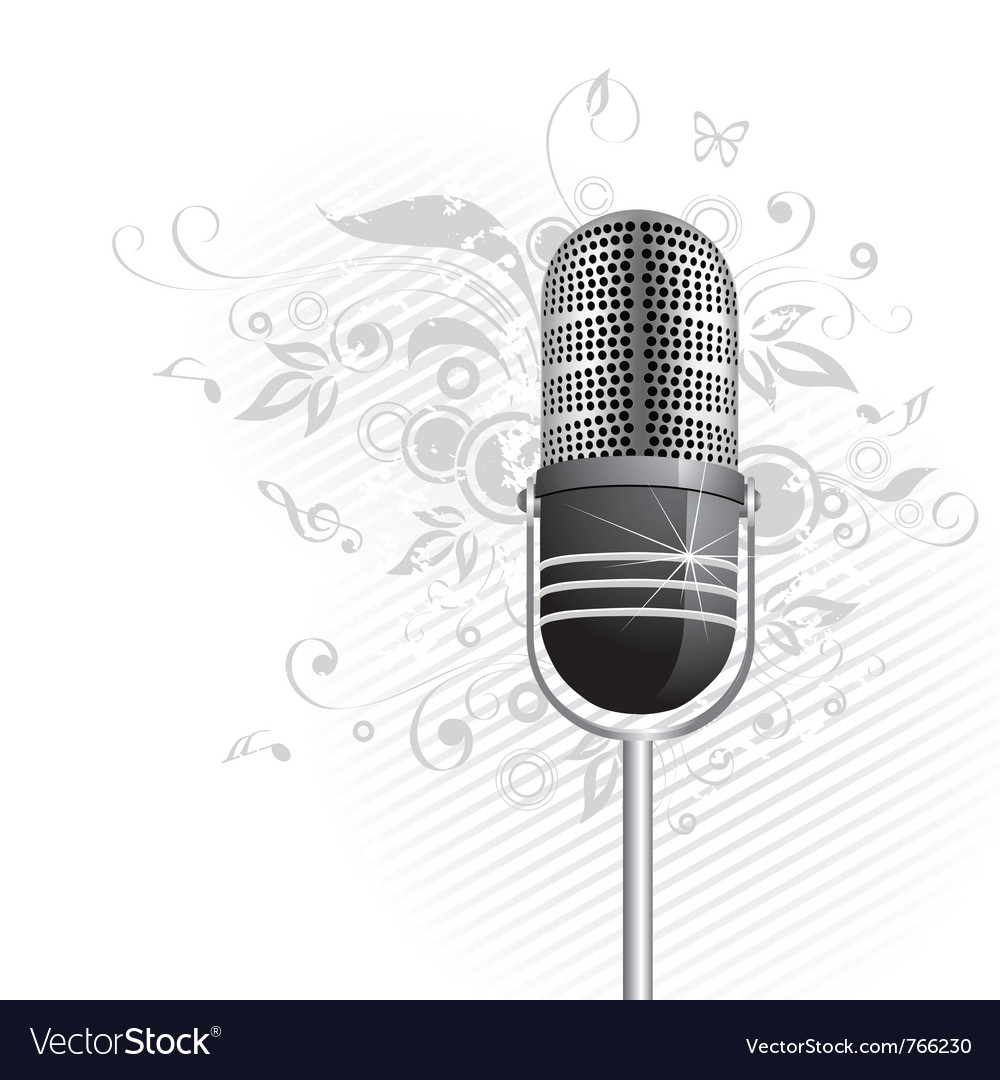 Classic microphone graphic vector | Price: 1 Credit (USD $1)