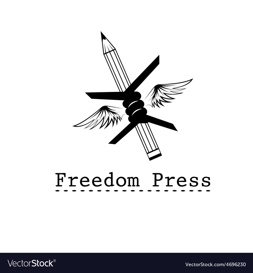 Freedom press concept design template vector | Price: 1 Credit (USD $1)