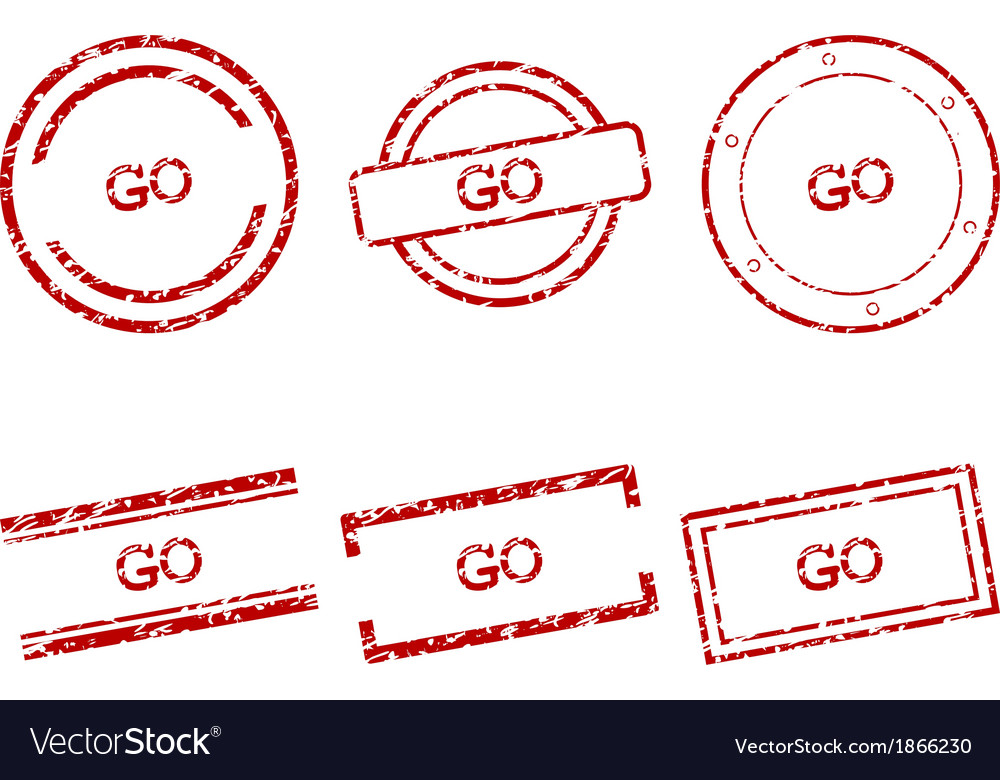 Go stamps vector | Price: 1 Credit (USD $1)
