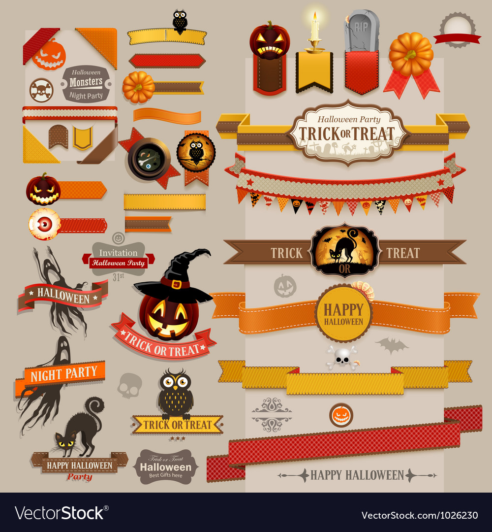 Halloween ribbons vector | Price: 3 Credit (USD $3)