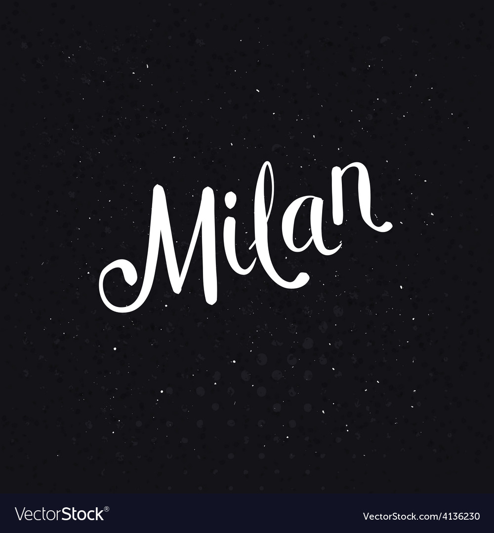 Simple milan text on a dotted black background vector   Price: 1 Credit (USD $1)