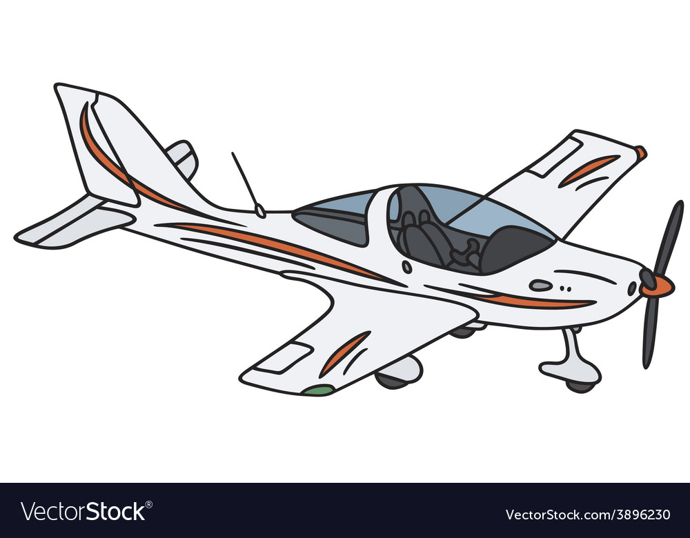Small propeller airplane vector | Price: 1 Credit (USD $1)