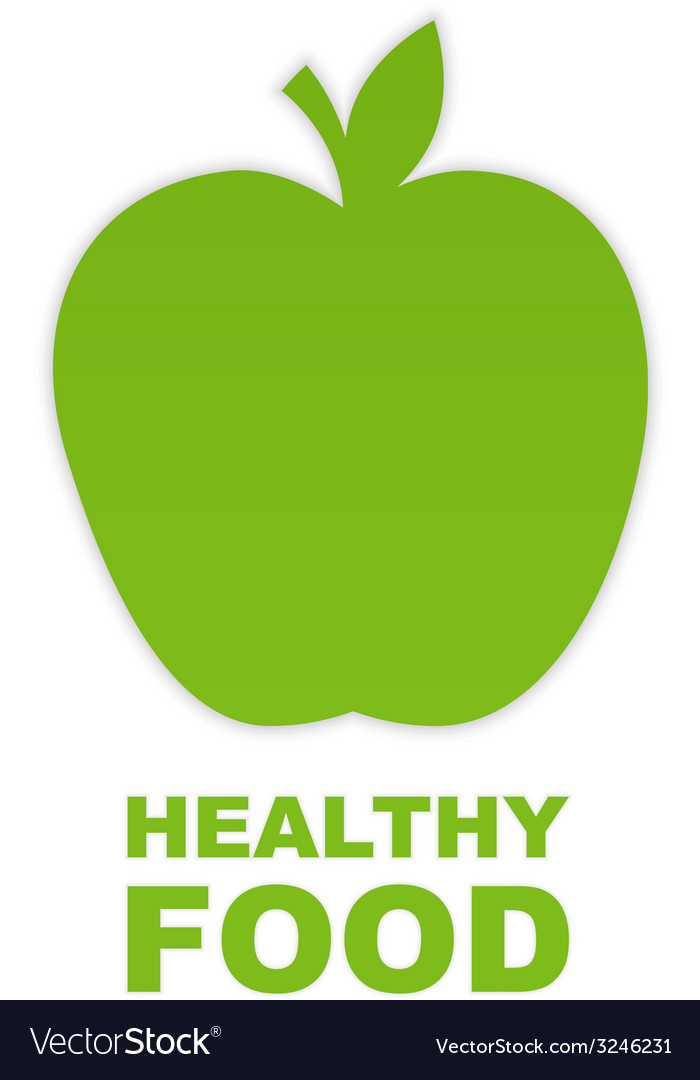 Abstract green paper apple vector | Price: 1 Credit (USD $1)