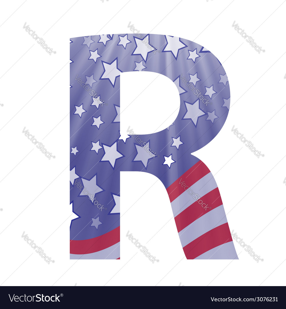 American letter r vector | Price: 1 Credit (USD $1)