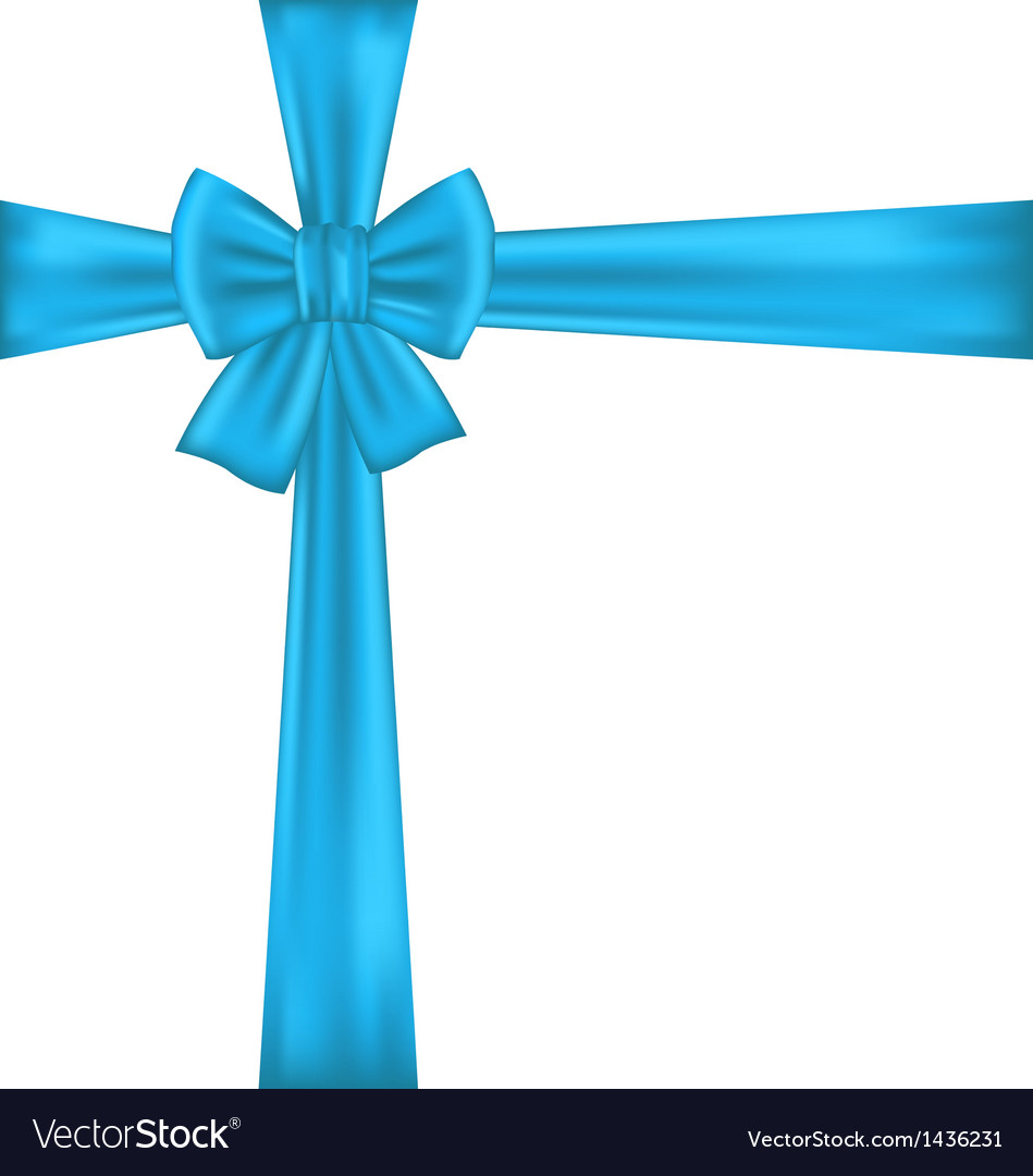 Blue bow for packing gift vector | Price: 1 Credit (USD $1)