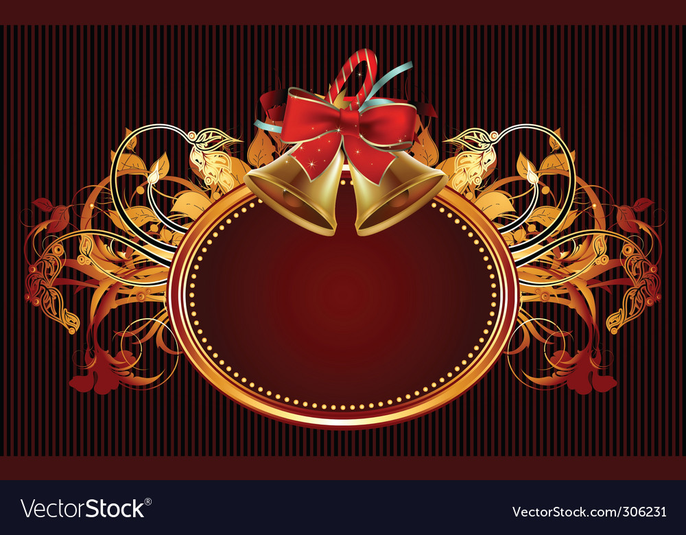 Christmas ornate frame vector | Price: 1 Credit (USD $1)