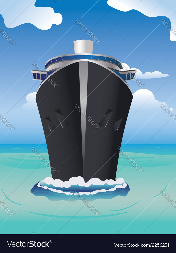 Cruise liner in the sea2 vector | Price: 1 Credit (USD $1)