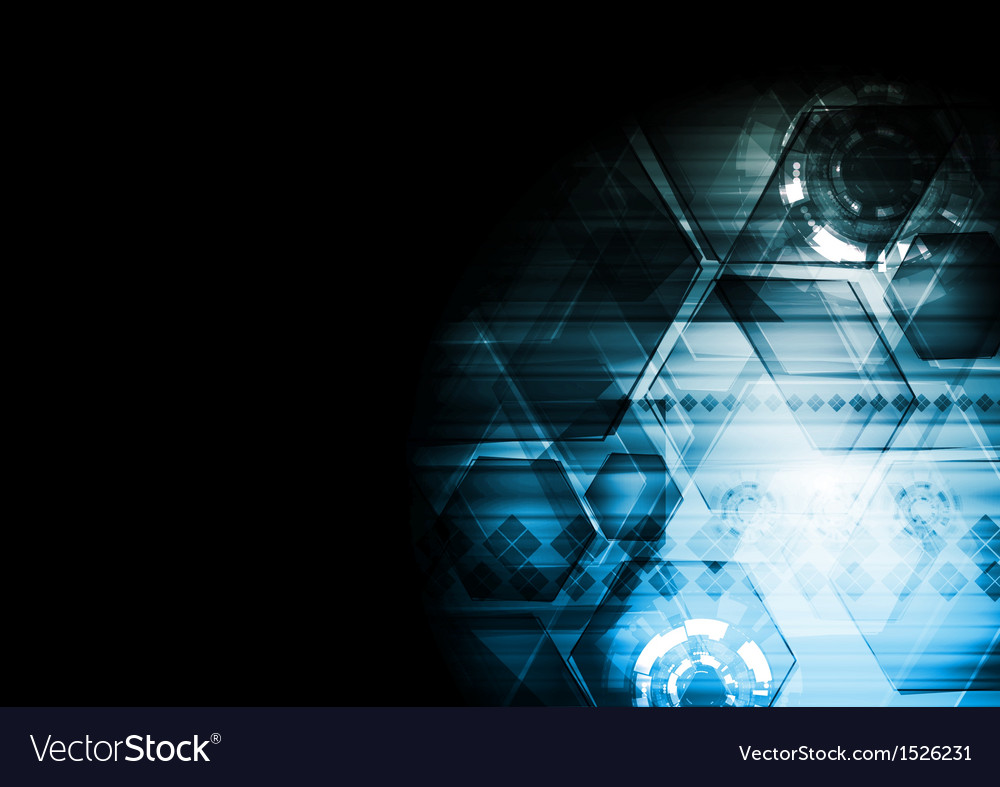 Dark blue technology background vector | Price: 1 Credit (USD $1)