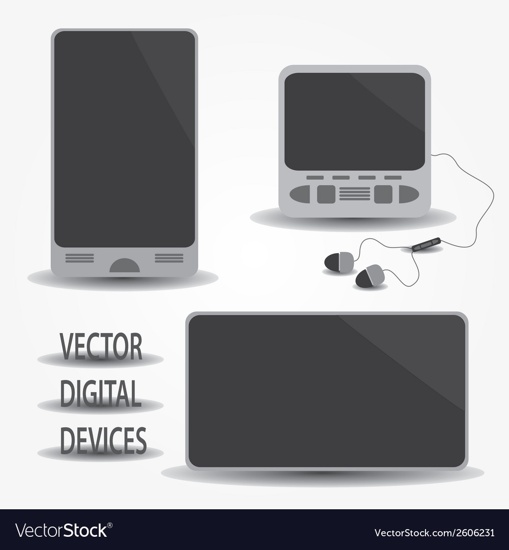 Digital devices eps10 vector | Price: 1 Credit (USD $1)
