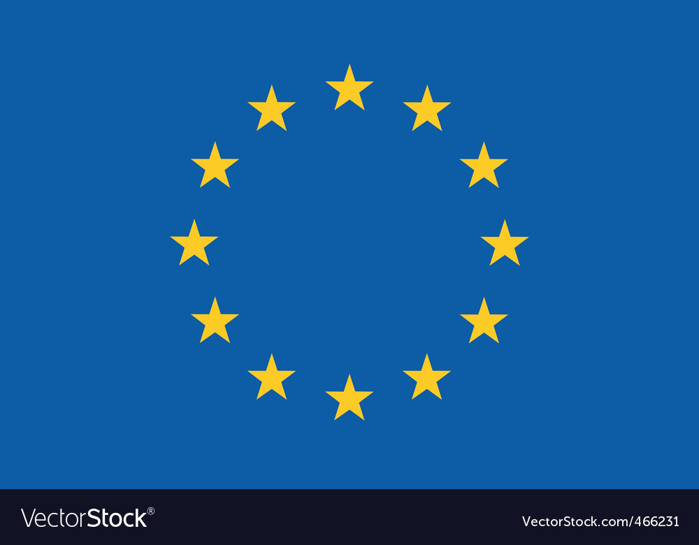 Eu flag vector | Price: 1 Credit (USD $1)