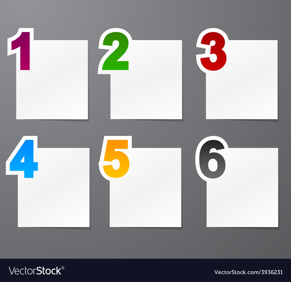 Numbered list design vector | Price: 1 Credit (USD $1)