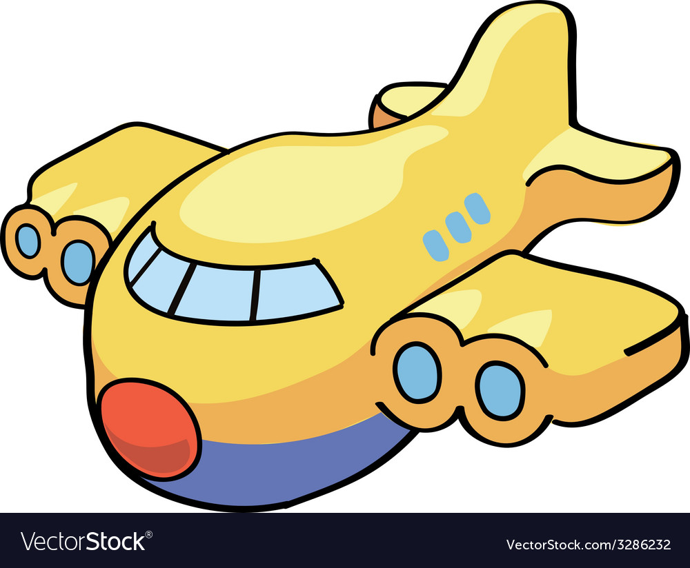 A cute cartoon airplane vector | Price: 1 Credit (USD $1)