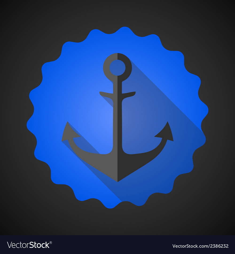 Antique travel anchor flat icon vector | Price: 1 Credit (USD $1)