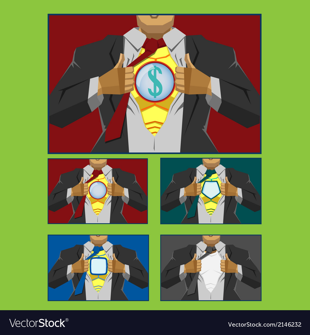 Businessman hero cover vector | Price: 1 Credit (USD $1)