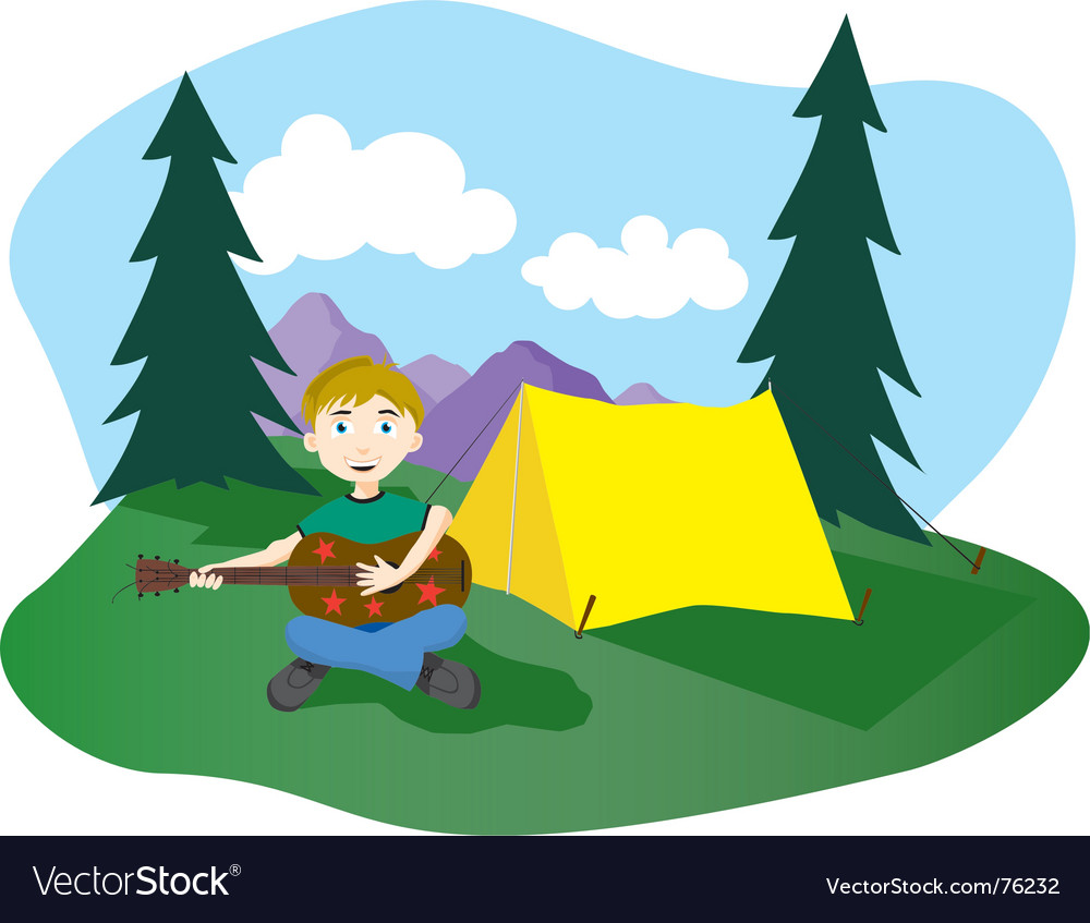 Camp songs vector | Price: 1 Credit (USD $1)