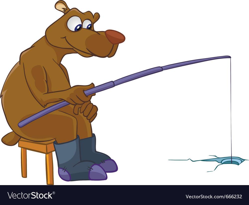Cartoon character bear vector | Price: 3 Credit (USD $3)