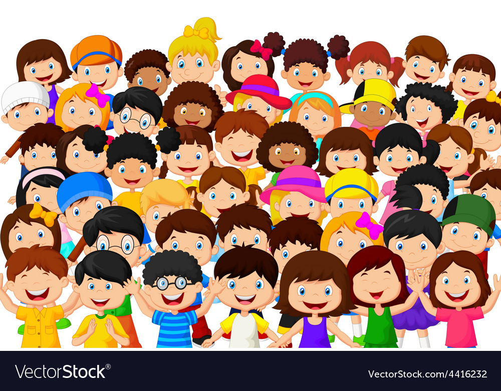 Crowd of people cheering vector | Price: 1 Credit (USD $1)
