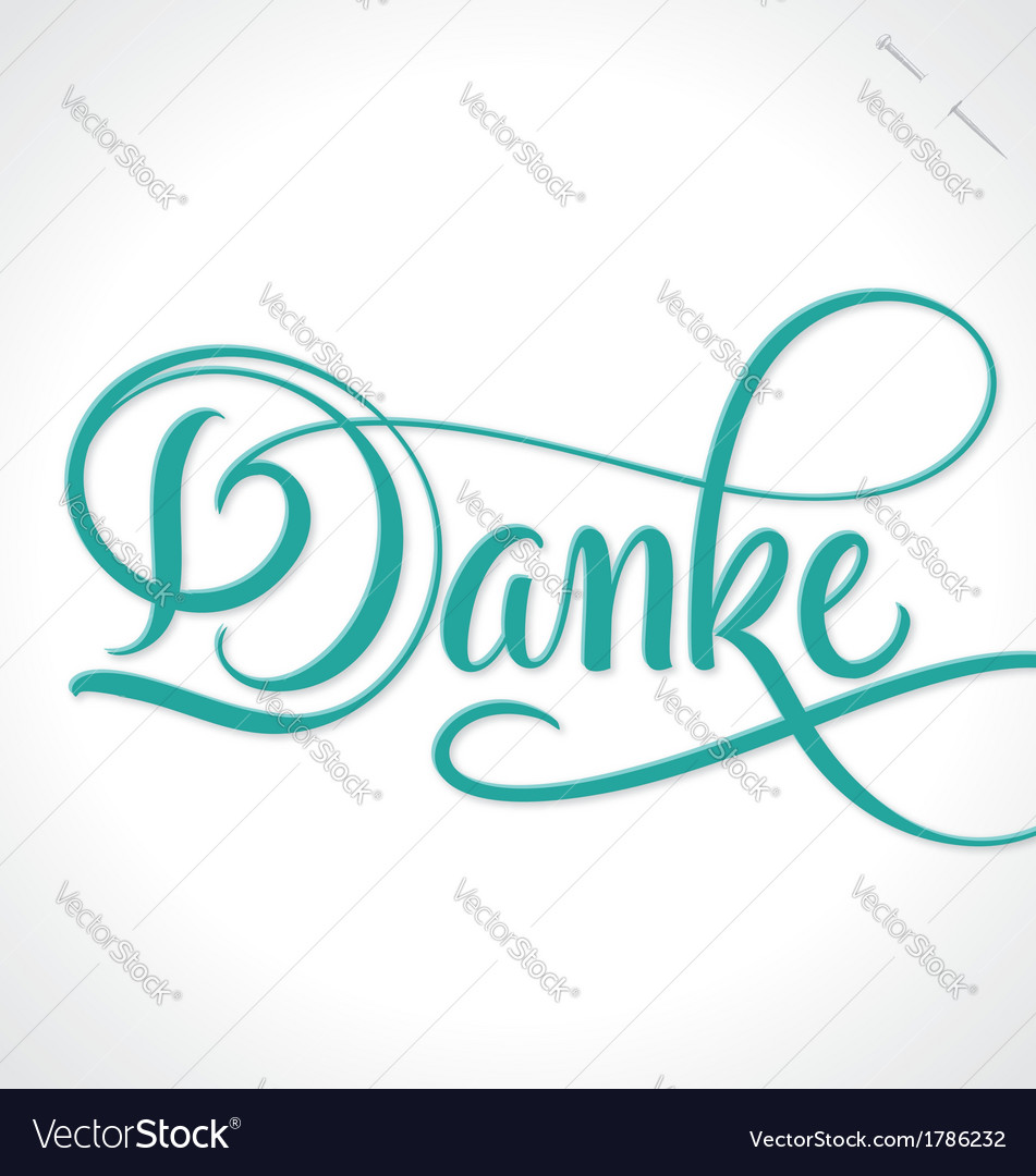 Danke hand lettering vector | Price: 1 Credit (USD $1)