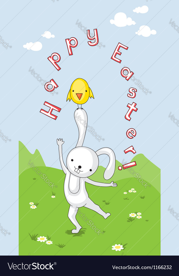 Easter card for kids vector | Price: 1 Credit (USD $1)