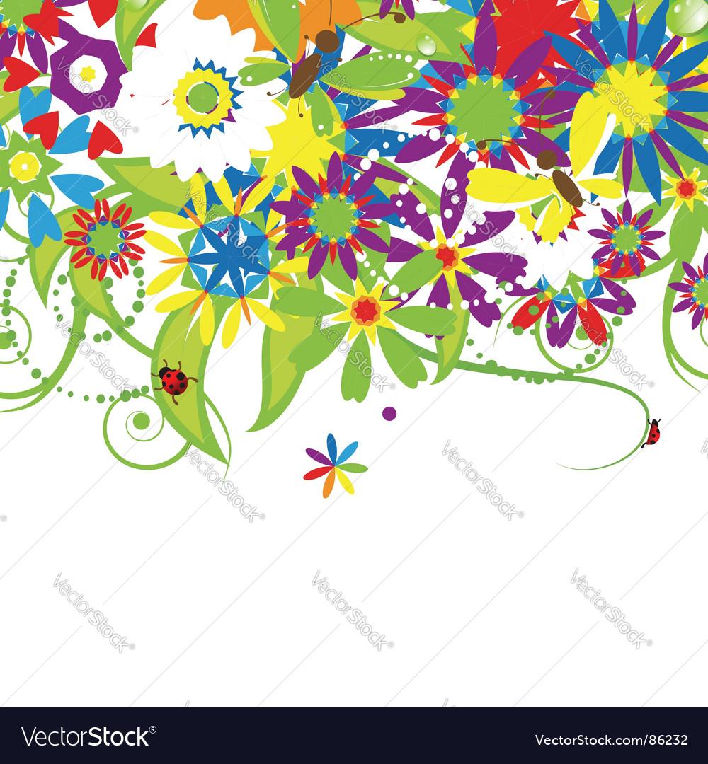 Floral bouquet summer illustration vector | Price: 1 Credit (USD $1)