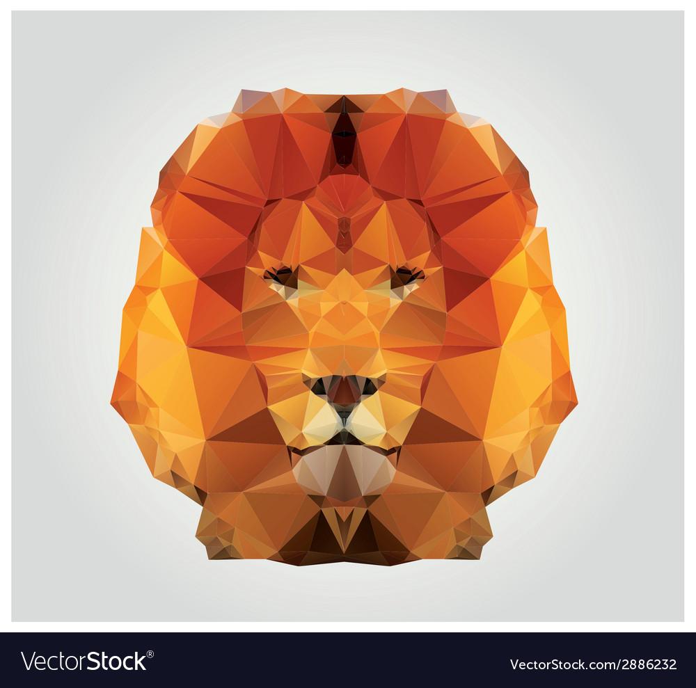 Geometric polygon lion head triangle pattern vector | Price: 1 Credit (USD $1)