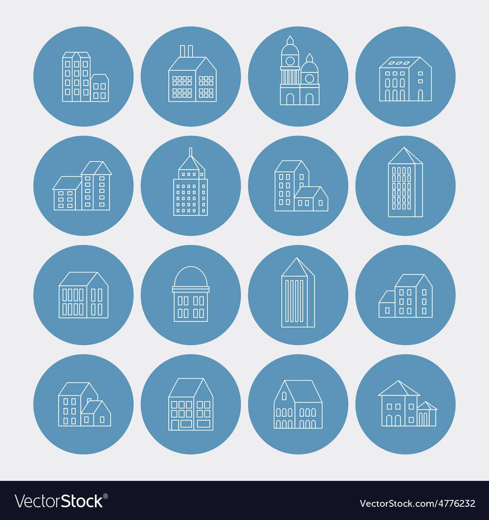 Linear building vector | Price: 1 Credit (USD $1)