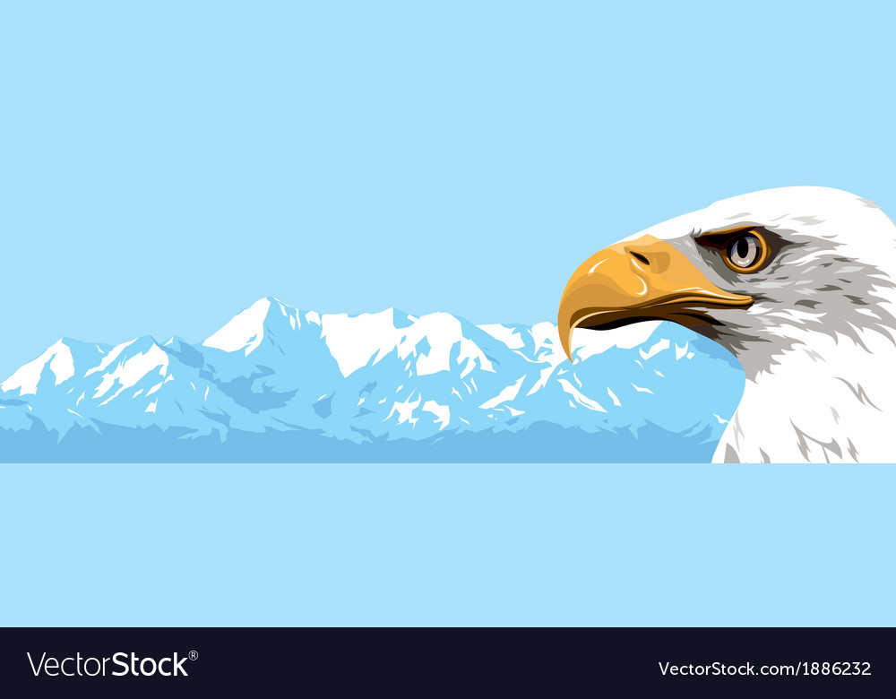 Mountains eagle vector | Price: 1 Credit (USD $1)