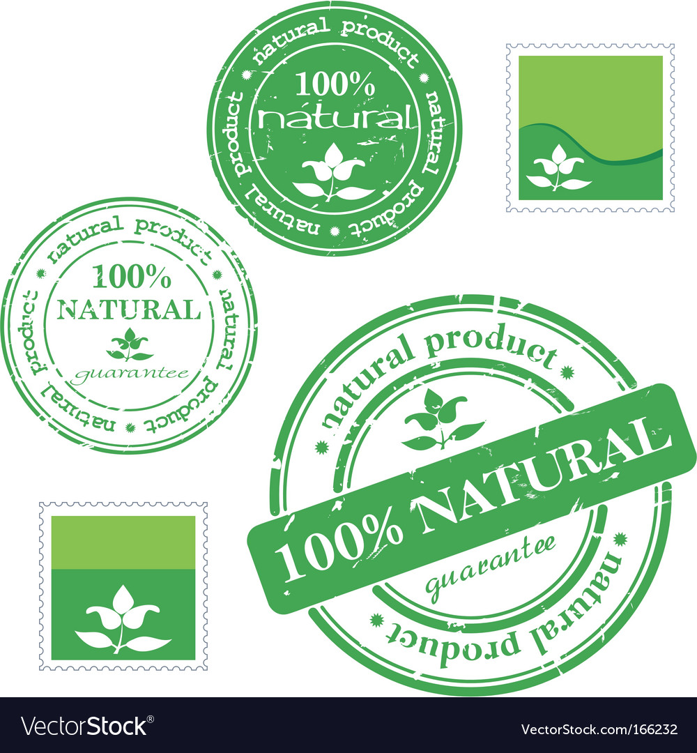 Natural product stamp vector | Price: 1 Credit (USD $1)