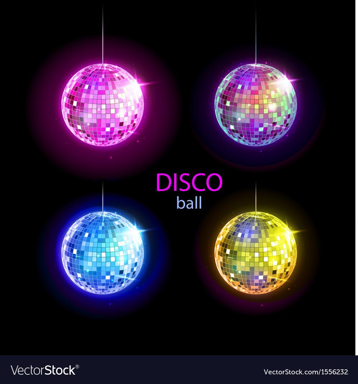 Set of disco balls vector   Price: 1 Credit (USD $1)