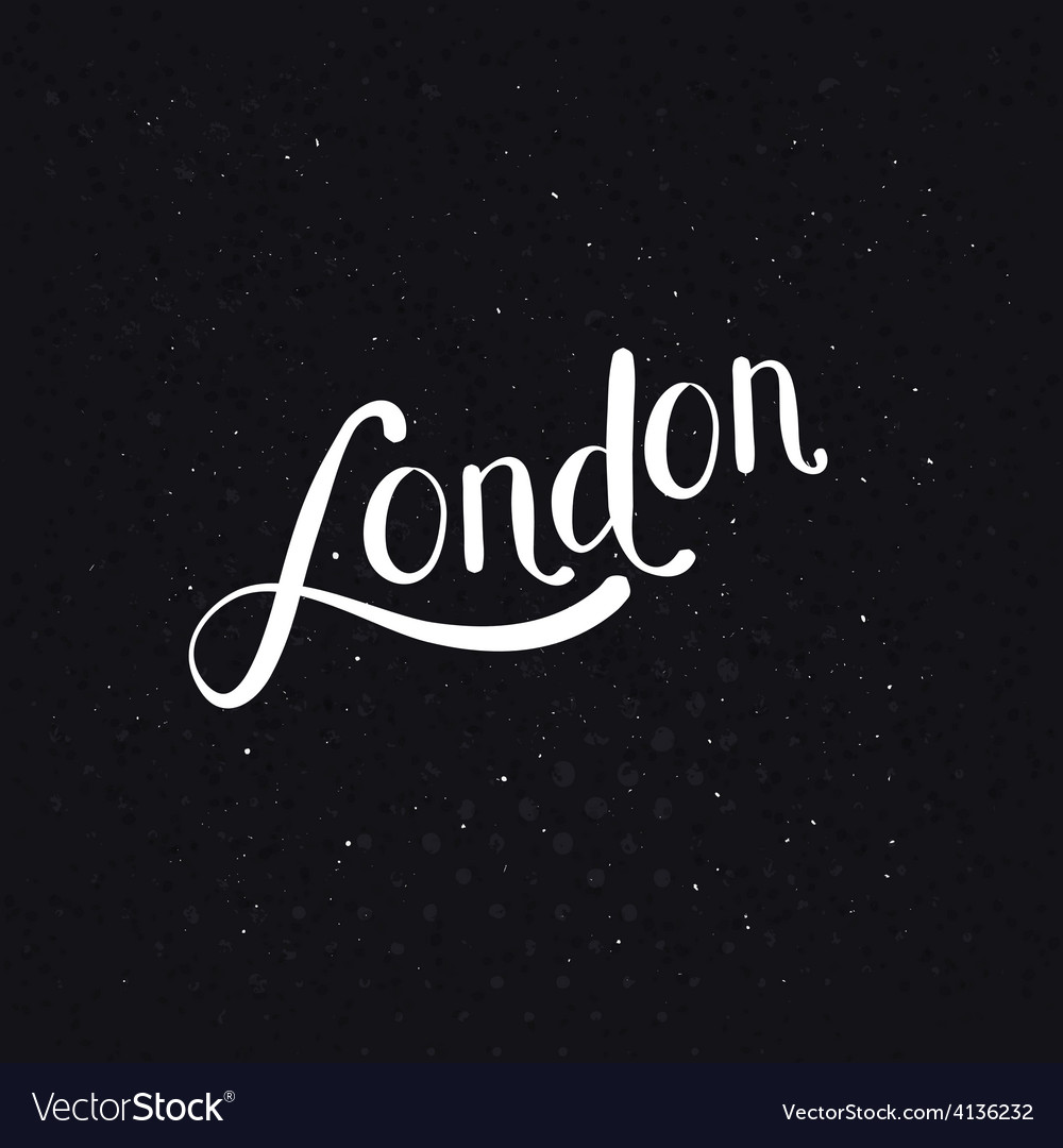 White london message on a dotted black background vector | Price: 1 Credit (USD $1)
