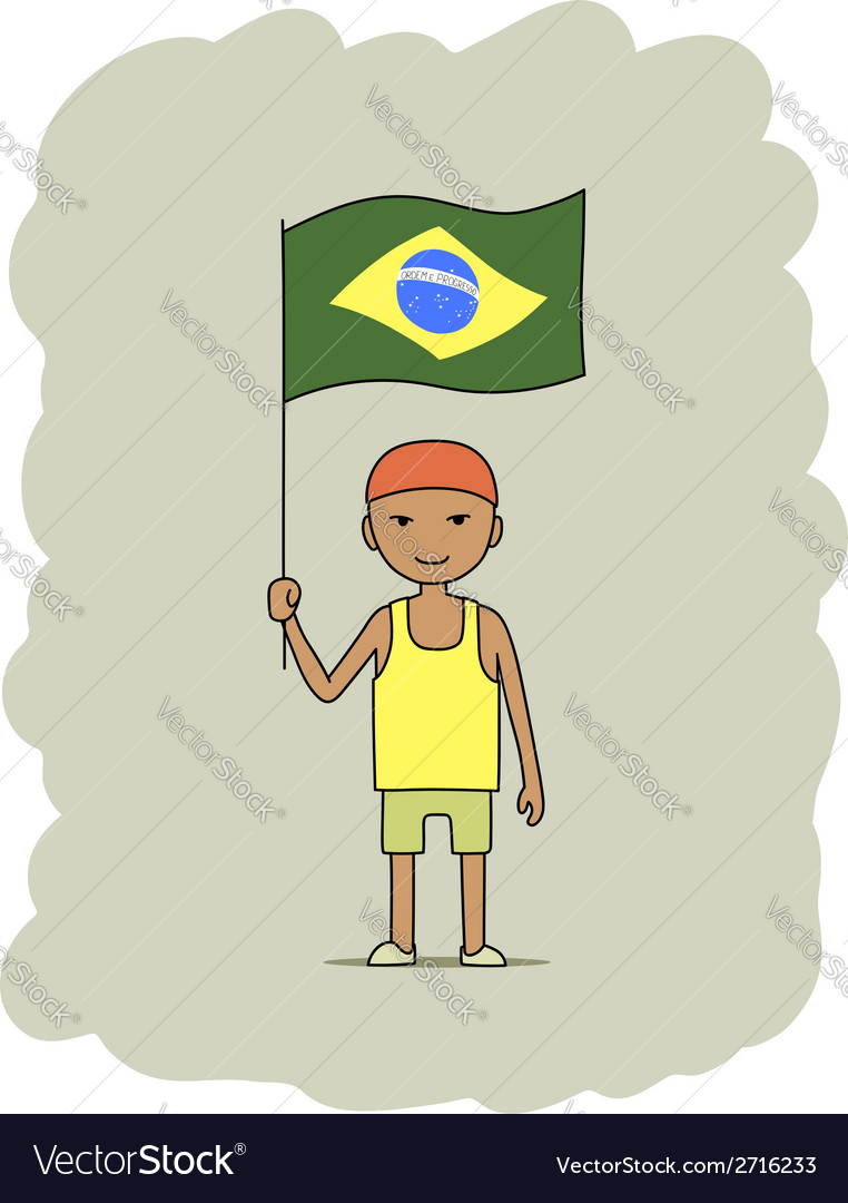 Brazil flag vector | Price: 1 Credit (USD $1)