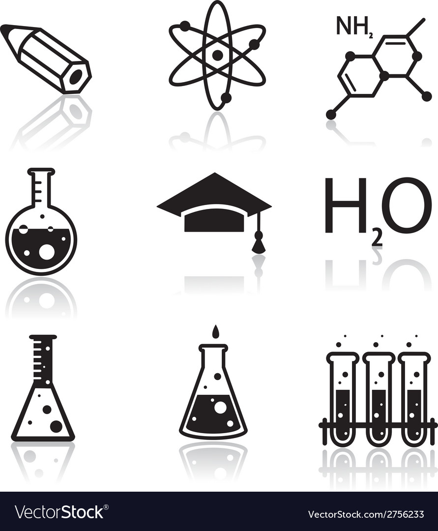 Chemistry icons for learning and web appl vector | Price: 1 Credit (USD $1)