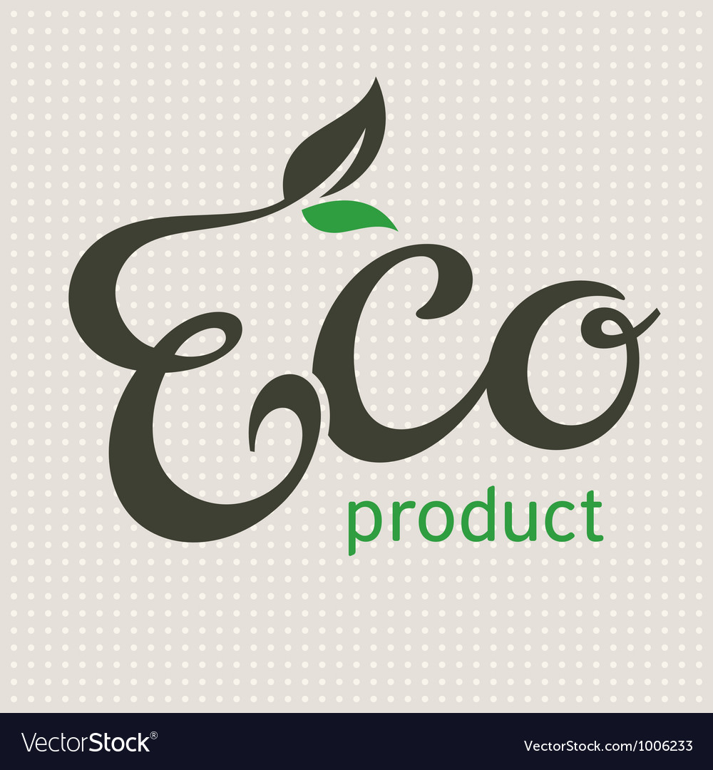 Eco product lettering vector | Price: 1 Credit (USD $1)