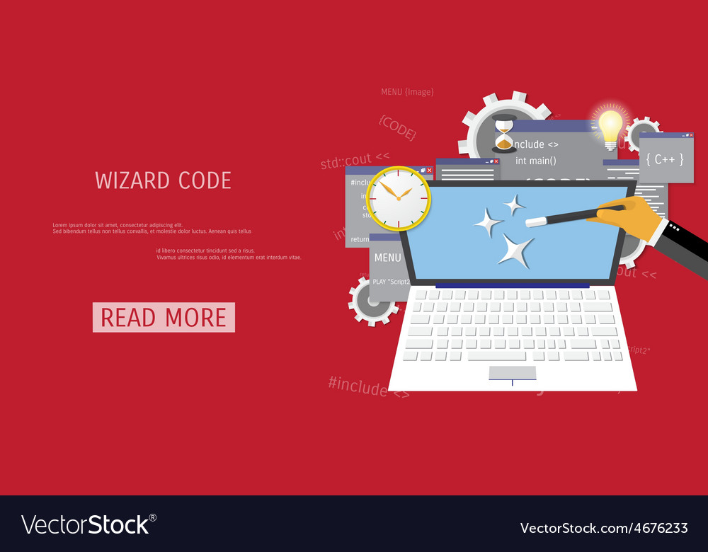 Flat concept of programming and coding vector | Price: 1 Credit (USD $1)