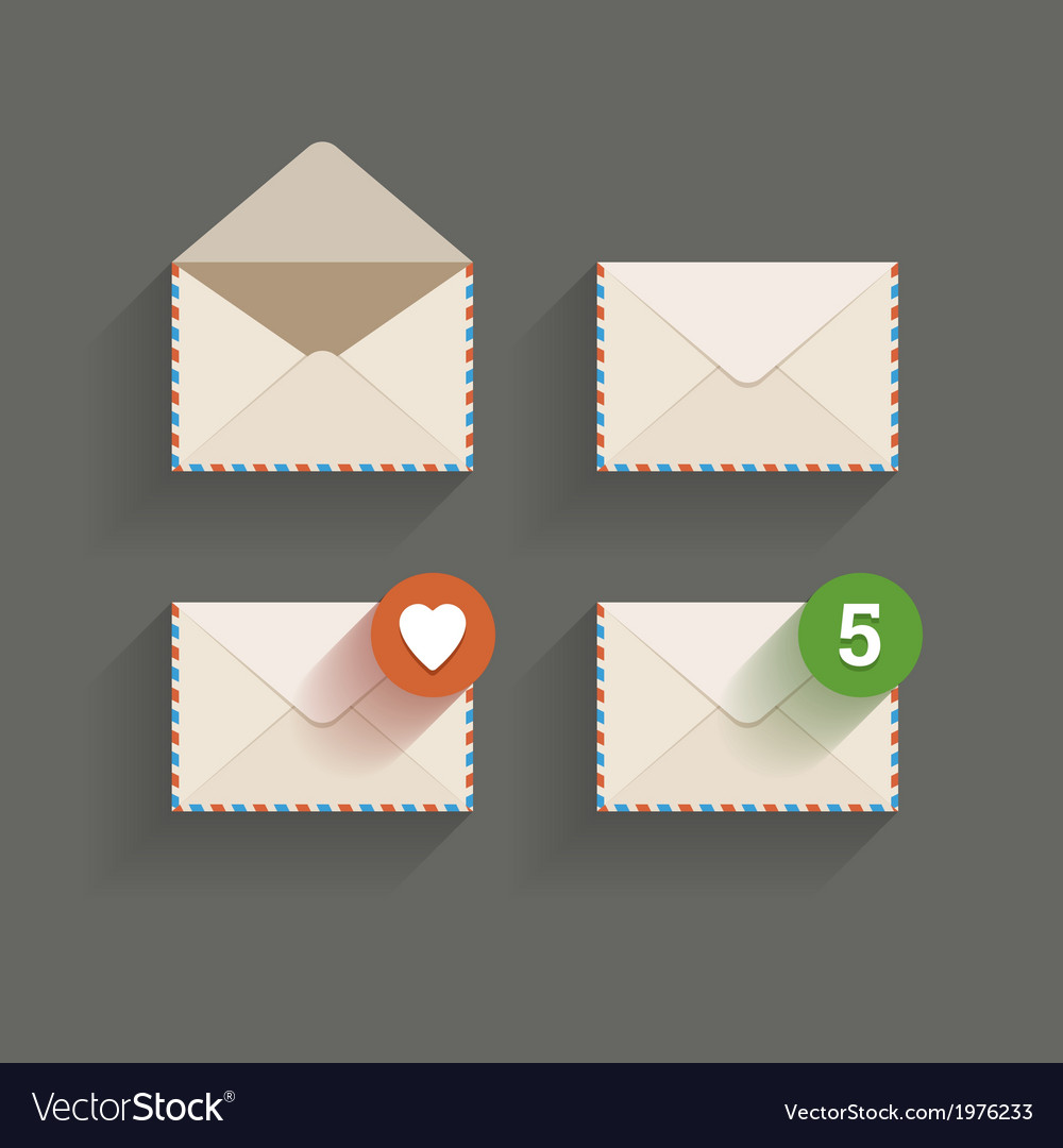 Flat email icons vector   Price: 1 Credit (USD $1)